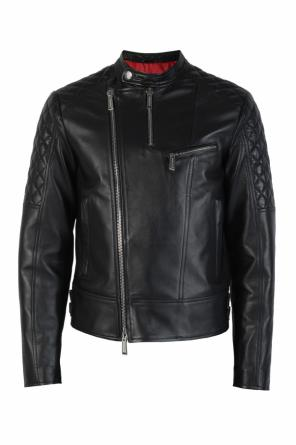 Leather biker jacket od Dsquared2
