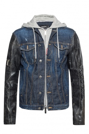 Hooded denim jacket od Dsquared2