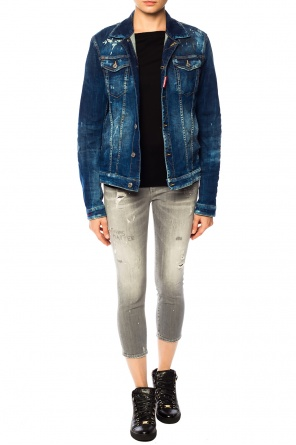 Distressed denim jacket od Dsquared2
