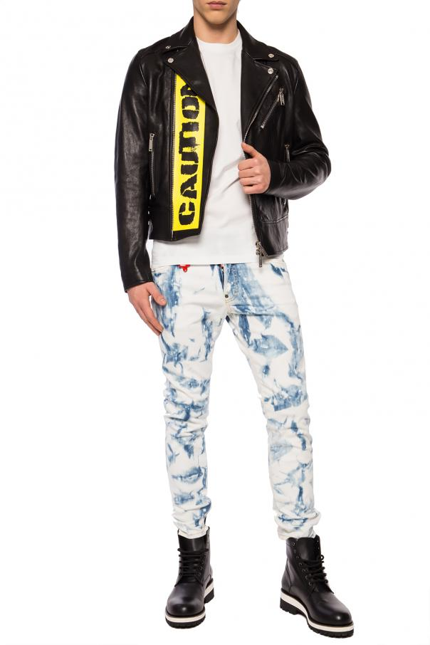 Printed leather jacket od Dsquared2