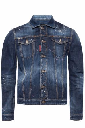 Printed denim jacket od Dsquared2