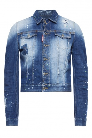 Paint-splattered denim jacket od Dsquared2
