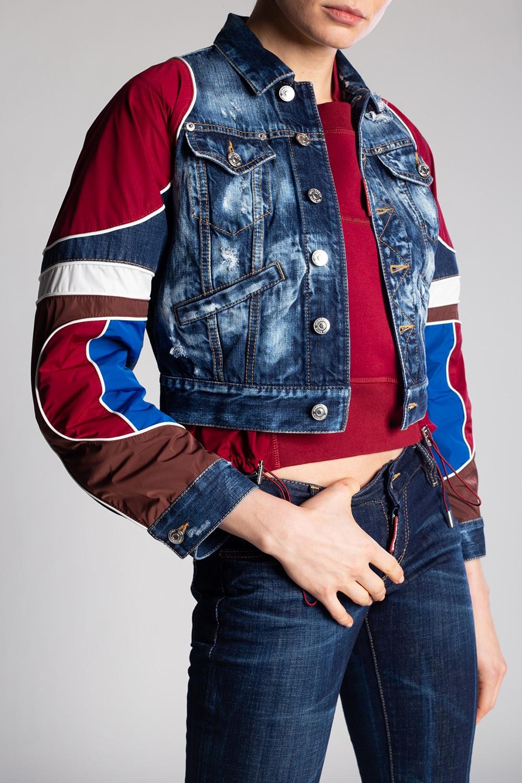 Dsquared2 Denim jacket with raw edge