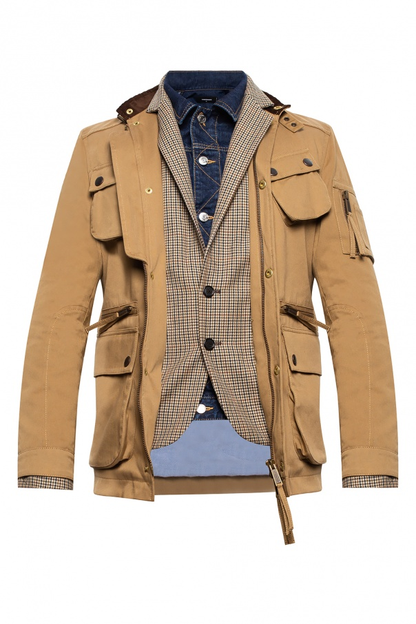 Dsquared2 Denim trim jacket