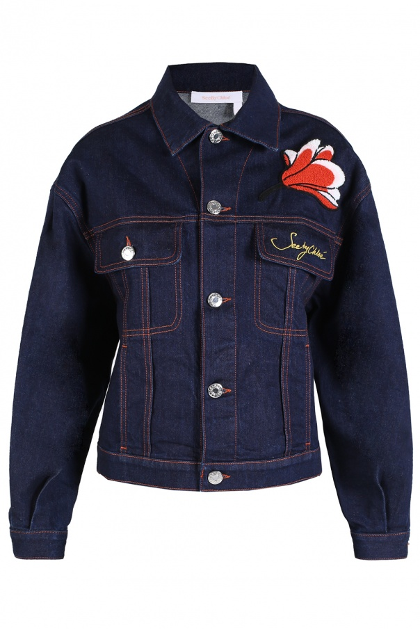 21cd1cba5a1 Patched denim jacket See By Chloe - Vitkac shop online
