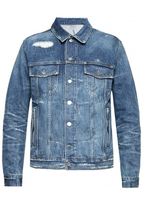 Raw-trimmed denim jacket od Balmain