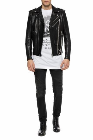Leather jacket with chain od Diesel