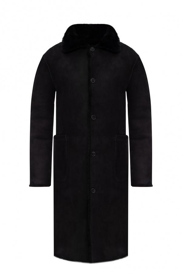 AllSaints 'Serra' collared shearling jacket
