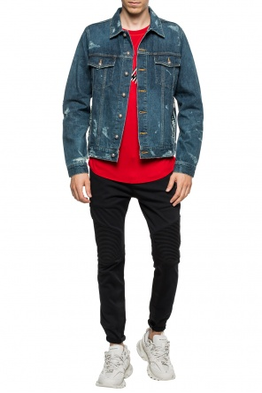 Stonewashed denim jacket od Balmain