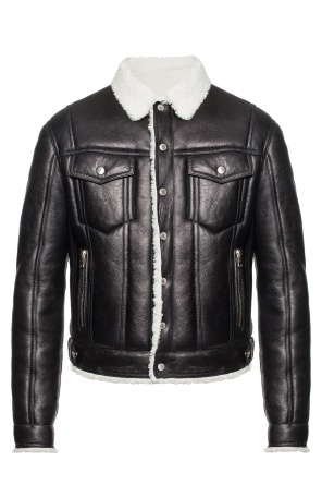 Fur trim jacket od Balmain