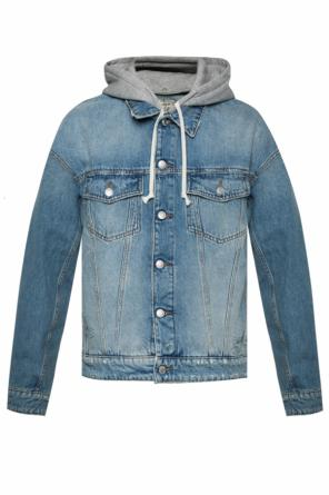 cff3fe5613e ... Denim jacket with tears and a detachable hood od Zadig   Voltaire