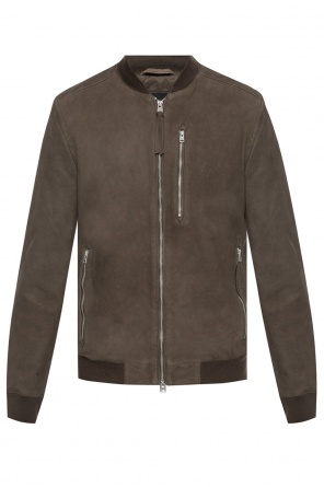 'stones' leather jacket od AllSaints