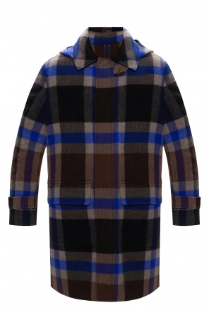 Checked wool coat od Etro
