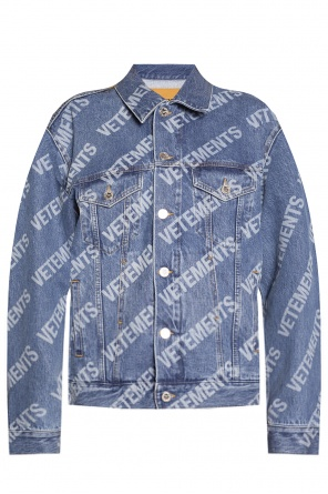 Denim jacket with logo od VETEMENTS
