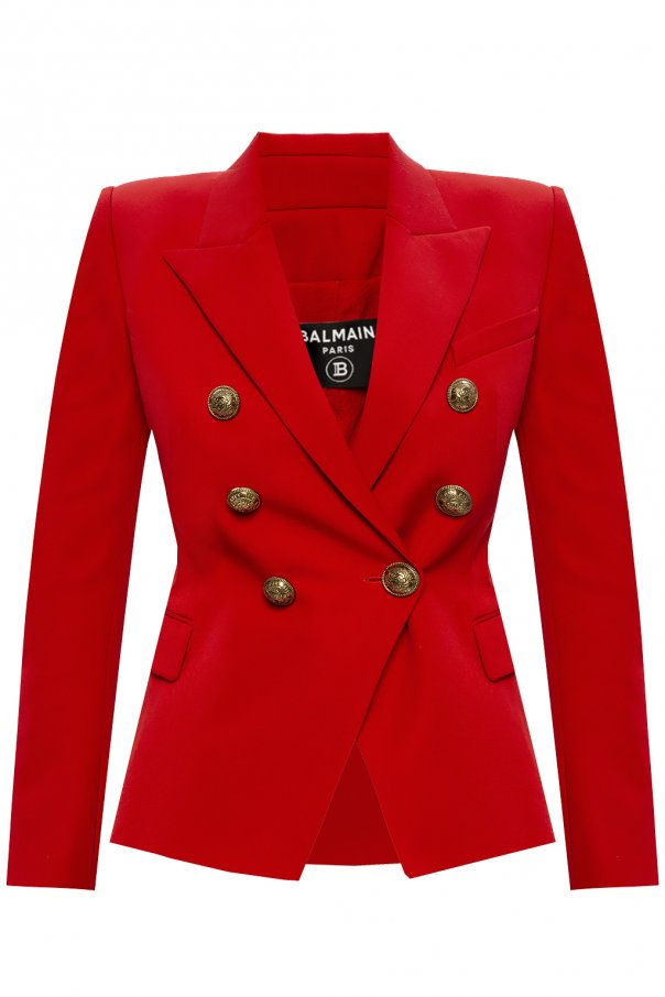Balmain Wool blazer with logo