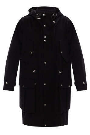 Hooded wool coat od Balmain