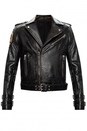 Leather biker jacket od Balmain