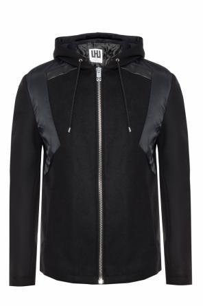 Branded hooded jacket od Les Hommes