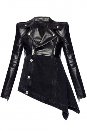 Asymmetrical leather jacket od Unravel Project