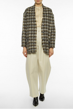 Cropped patterned coat od Isabel Marant