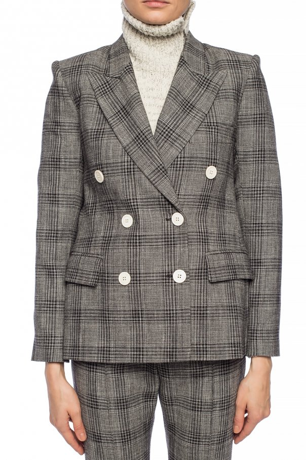 Checked double-breasted blazer od Isabel Marant