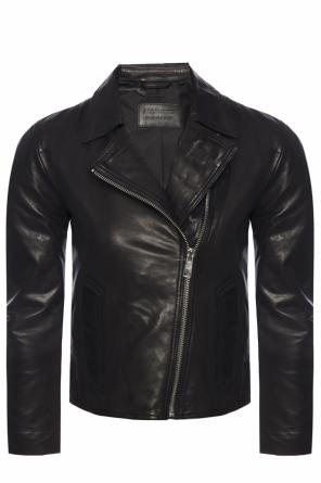 'vela' leather jacket od AllSaints