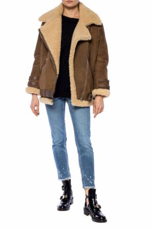 Shearling suede jacket od Acne