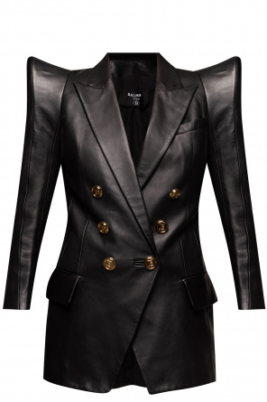 Leather blazer od Balmain
