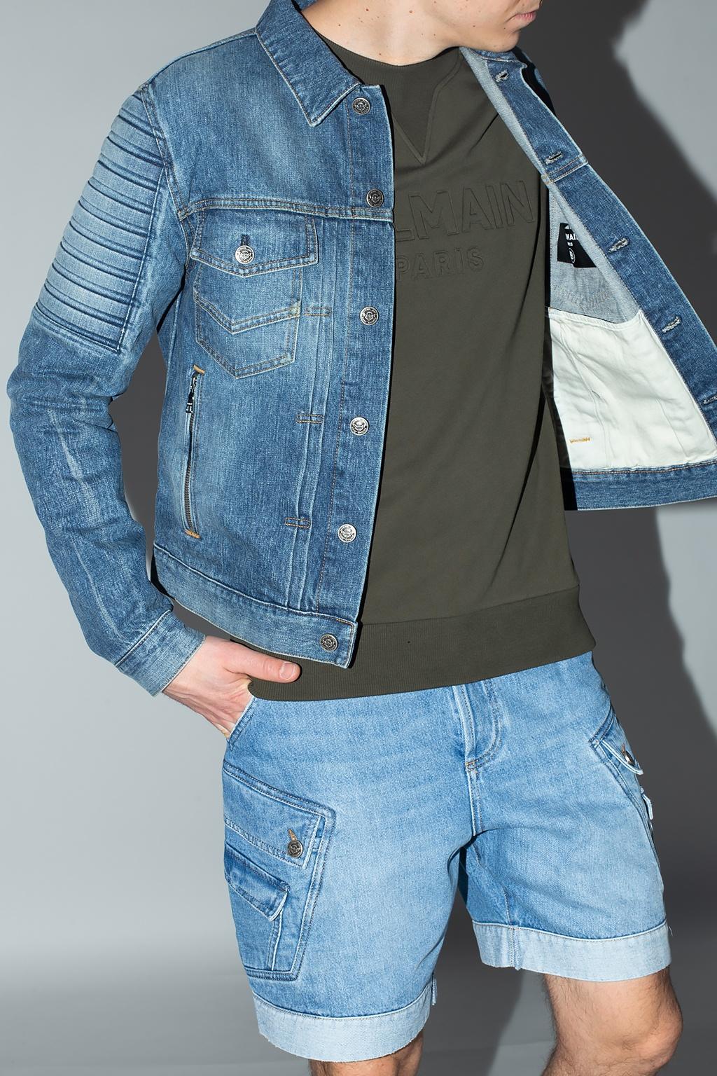 Balmain Denim jacket with logo