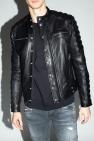 Balmain Leather jacket with logo