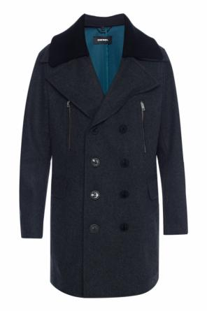 Cropped double-breasted coat od Diesel
