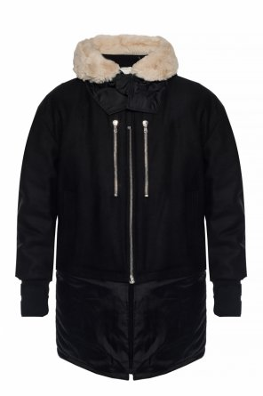 Wool jacket with fur trim od Diesel Black Gold