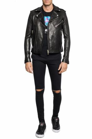 Leather 'biker' jacket od Balmain
