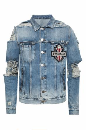 Denim jacket with rips od Balmain