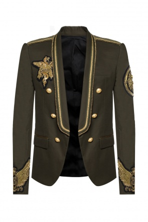 Single-vented double-breasted blazer od Balmain