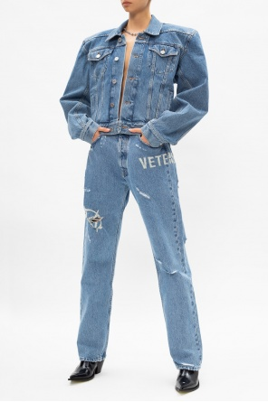 Distressed denim jacket od Vetements