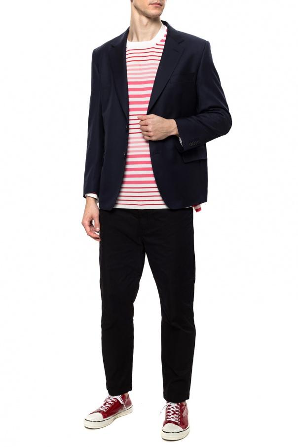 Junya Watanabe Comme des Garcons Marynarka z jeansowym wykończeniem mixdjM7C