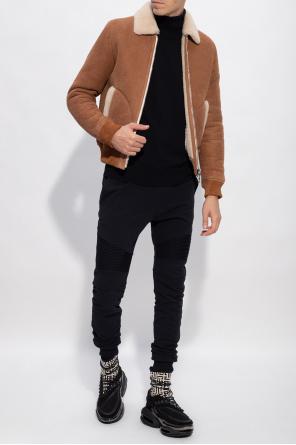 Leather jacket od Balmain