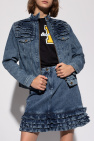 Love Moschino Denim jacket with standing collar