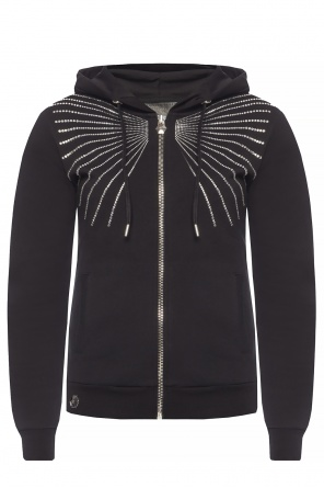 Embellished hooded sweatshirt od Philipp Plein