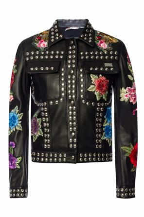 Patched leather jacket od Philipp Plein