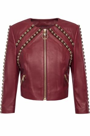 Cropped leather jacket od Philipp Plein