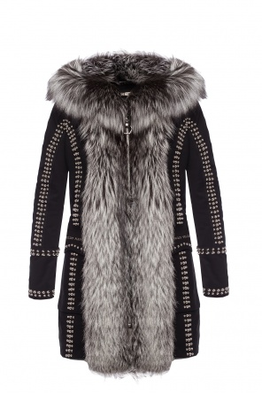 Parka with fox fur finish od Philipp Plein
