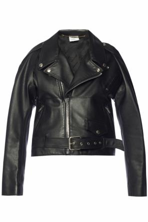 Biker jacket with detachable sleeves od Vetements