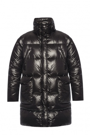 'birch' quilted down jacket with logo od Woolrich