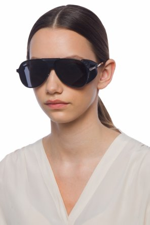 Sunglasses with leather inserts od Saint Laurent