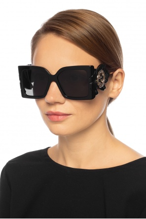 Sunglasses with leaf temples od Gucci