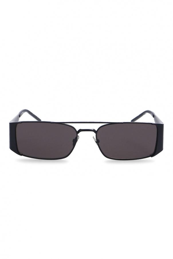 Saint Laurent Logo-embossed sunglasses