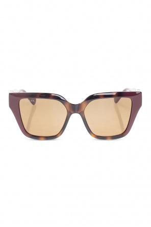 Tortoiseshell injection sunglasses od Gucci