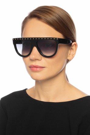 Okulary przeciwsłoneczne z dekoracyjnymi elementami od Celine